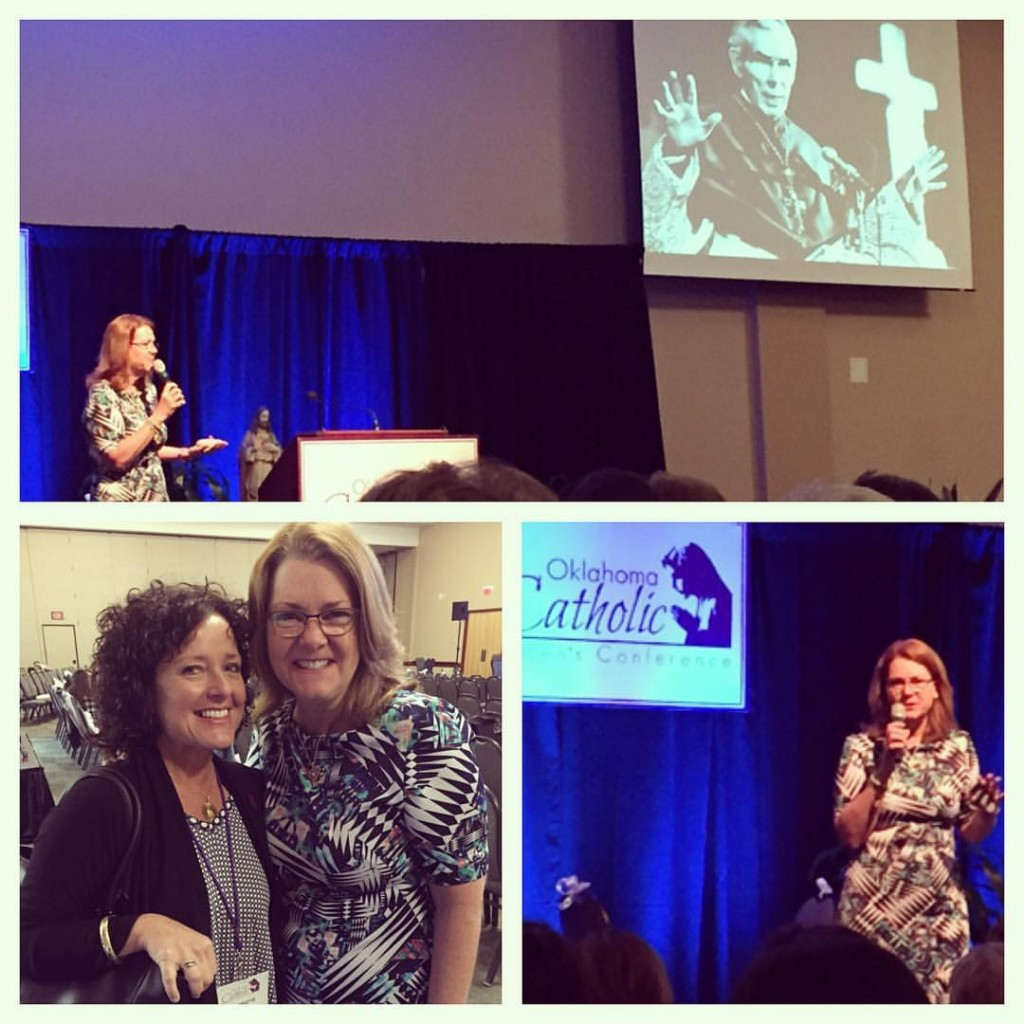 Lisa speaking at the 2016 Oklahoma Catholic Women's Conference