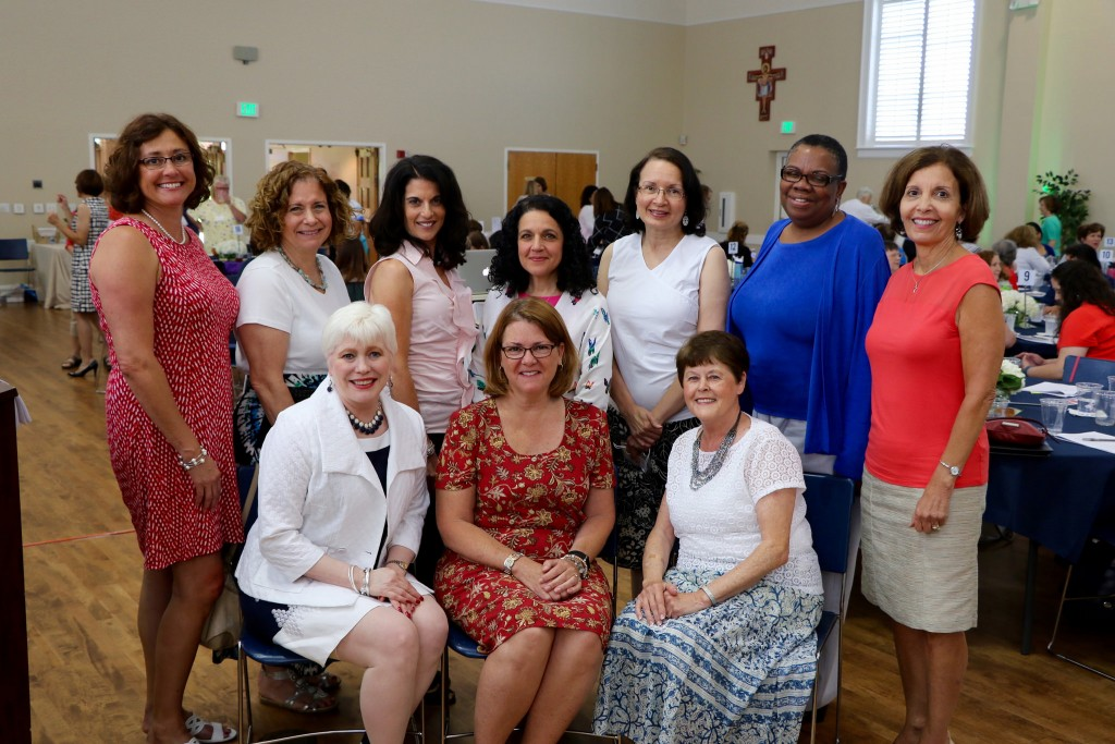 "Lisa with ""Women of Wonder"" organizing committee at St. Michael the Archangel, Cary, NC - photo courtesy of Bob Witchger, all rights reserved"