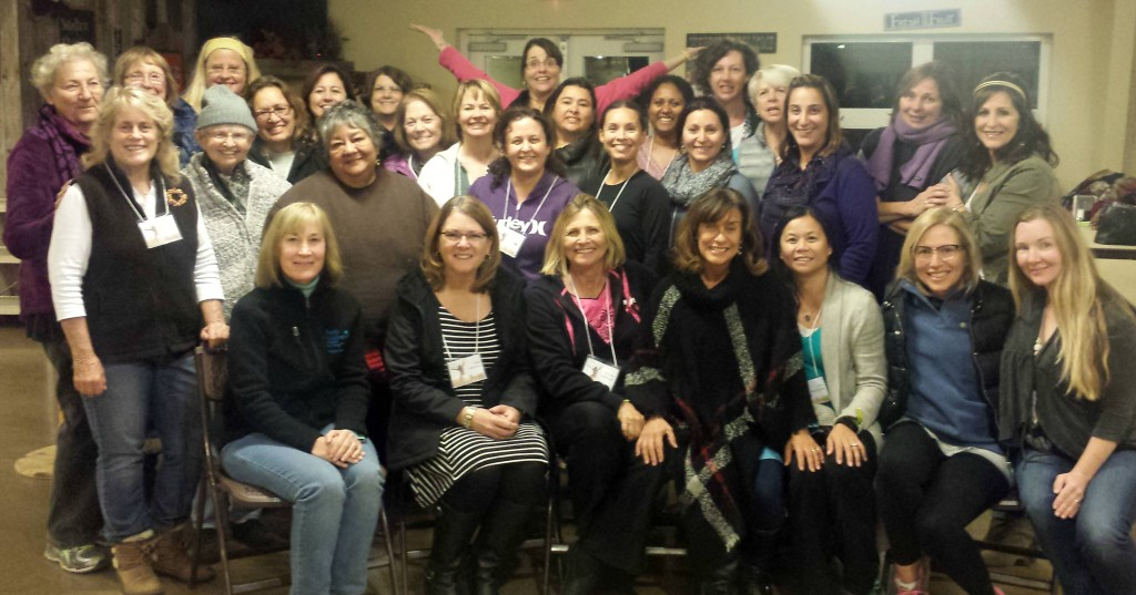 "Lisa with the women of Sacred Heart Parish at their three day ""Grace of Yes"" retreat"