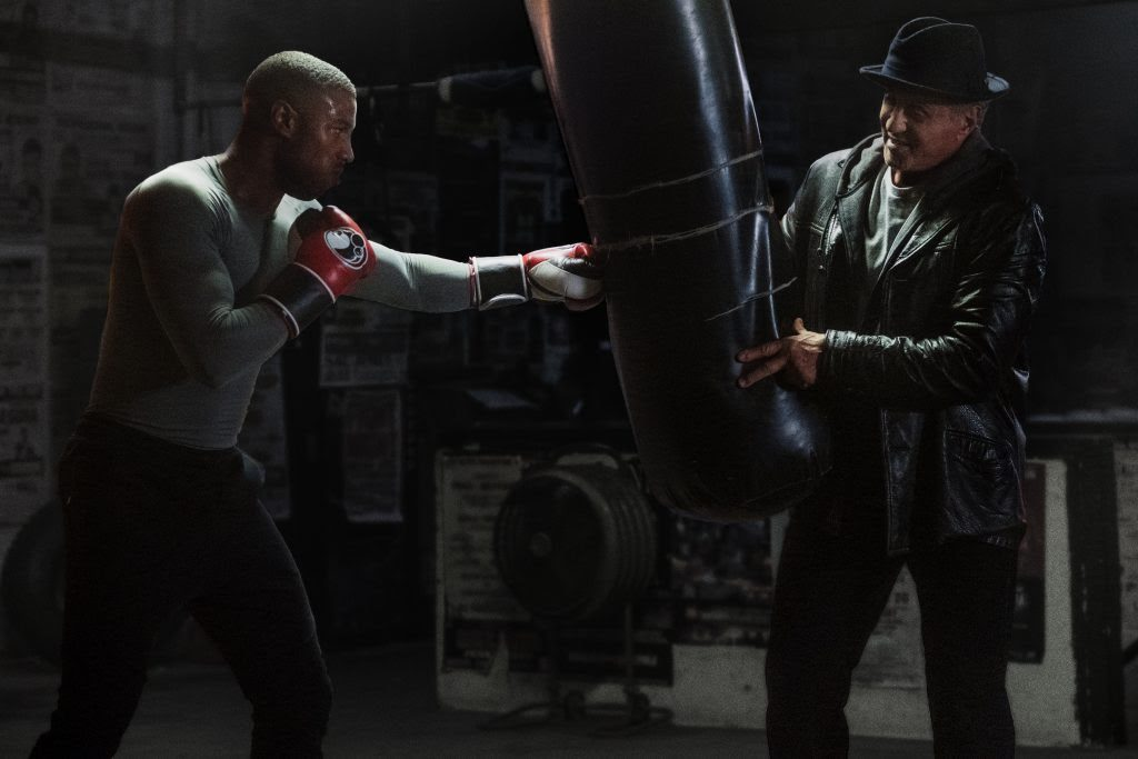 Michael Jordan and Sylvester Stalone in Creed 2